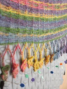 Ravelry: MiLindaJones' Sprout Chains Shawlette pattern by Kristin Omdahl.