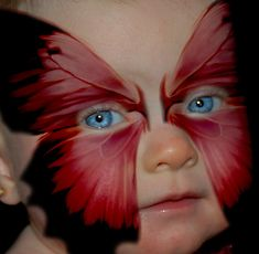beautiful blue eyes butterfly face painting