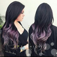 Literal hair goals .... Purple, silver pastel ombre