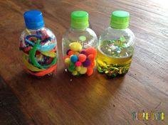 Veja o passo a passo muito simples de como fazer garrafas sensoriais senguindo o método Montessori