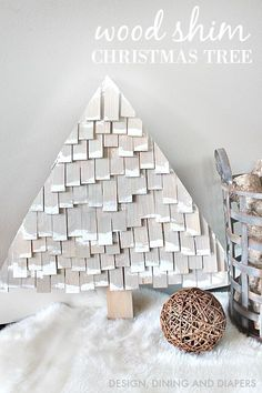 DIY Wood Shim Christmas Tree Tutorial