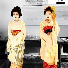 November 2015: famous geiko Toshikana and maiko Toshiemi by @koichi_imabayashi on Instagram