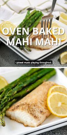 Cooking Mahi Mahi, Baked Mahi Mahi, Crockpot Recipes, Cooking Recipes, Healthy Recipes, Seafood Recipes, Dinner Recipes, Tasty Videos, Eating Clean