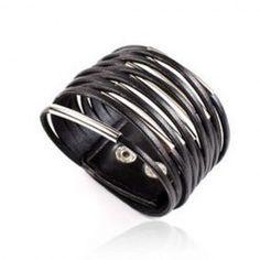 Stylish Simple Style Multi-Layered PU Leather Bracelet