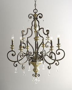 """Nine-Light """"Treviso"""" Chandelier at Horchow. Love! I have 4 pcs of this collection!"""