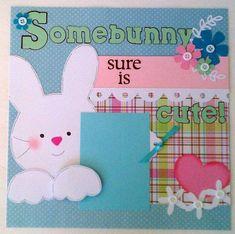 BabyEasterToddlerBunny premade scrapbook layout by ohioscrapper, $15.00 #babyscrapbooks