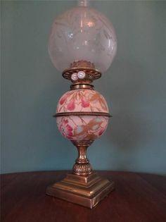 Gorgeous Antique John Scott Double Burner Oil Kerosene