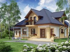 Zdjęcie projektu Solon WRW1125 Framing Construction, House Construction Plan, Dream Home Design, My Dream Home, House Design, Beautiful House Plans, Beautiful Homes, Outside House Paint, Hotel Floor Plan