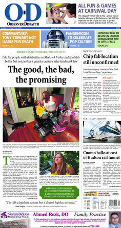 The front page for Sunday, Aug. 16, 2015: The good, the bad, the promising
