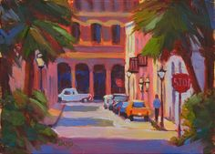 Charleston Side Street – COCO VIVO 5x7 oil by Kathleen Denis