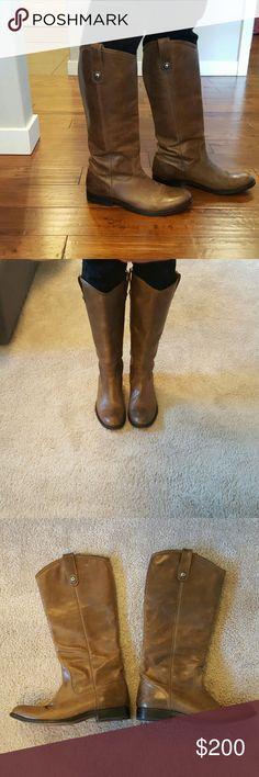 Frye Melissa Button Tall boots Light brown Frye Melissa Boots Frye Shoes Combat & Moto Boots