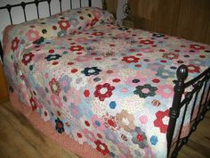 Hermosa hecha a mano patchwork antiguo por Timemachinequilting
