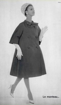 Christian Dior Coat, designed by Yves Saint Laurent, 1960