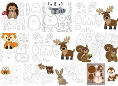 Felt Board Patterns, Felt Doll Patterns, Felt Animal Patterns, Felt Crafts Patterns, Puppet Patterns, Stuffed Animal Patterns, Felt Quiet Books, Felt Baby, Felt Ornaments