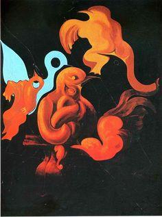 After Us Motherhood, 1927 by Max Ernst, First French period. Surrealism. symbolic painting. Kunstsammlung Nordrhein-Westfalen, Düsseldorf, Germany