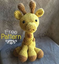I wish I knew how to crochet . Would be adorable for Anabel Free giraffe amigurumi crochet pattern- Flourish and Tots Cute Crochet, Crochet Crafts, Crochet Baby, Crochet Projects, Crochet Giraffe Pattern, Crochet Patterns Amigurumi, Crochet Dolls, Basic Crochet Stitches, Crochet Basics