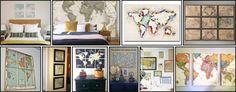 quadro - mapas - maps decor - decoration - nick na europa