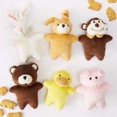 Plush Animal Squeaky Asst 6 Designs © Two's Company
