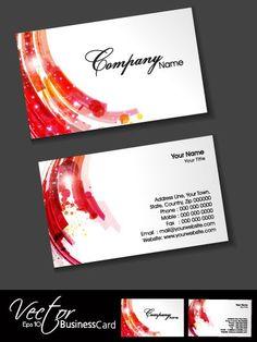 Stylish Creative cards free vector 09