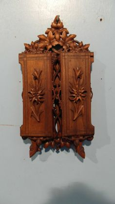 Black Forest Antique Carved Picture of Photo Frame Triptych | eBay