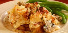 Scalloped Chicken and Mushroom Casserole Bake