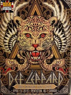 Special edition poster for the first show of the 2015 world tour