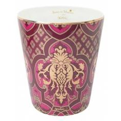 Tumbler in porcelain from Limoges - M. Christian Lacroix - Limited and numeroted edition - Perfume from Haute parfumerie from Grasse - Hand made in France Christian Lacroix, Made In France, Scented Candles, Rose, Tumbler, Tableware, Handmade, Or Mat, Gifts
