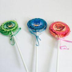 Pj Masks Catboy Owlette Geckko Lollipops Paletas De Dulce~ Dessert Table Decoration ~birthday Party Favors~ Set Of 12 Ct