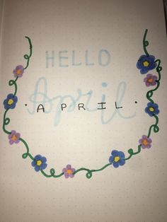 april monthly layout