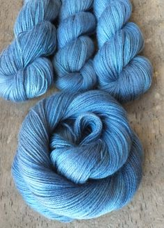 NEW Royal Blue Blues  70 30 Silk Cashmere Hand Dyed by sericin, $32.00