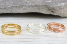 Knuckle Rings  Thin midi rings  Set of 12 stack by HLcollection, $30.00