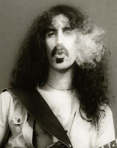 Frank Zappa, another super cool bloke. Look at his hair and his moustache and that soul patch. Super cool bloke, like!
