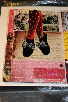 Kelly Kilmer Art Journaling Page - love how she adds doodles and journaling right over the page.