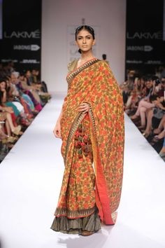 Shashikant Naidu's Collection at Lakme Winter Festive 2014. #lakmefashionweek #JabongLFW