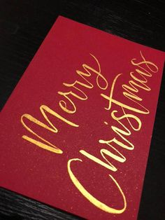 These handmade Christmas cards will be a great way to spread some love over this Christmas period! Each card is carefully hand written by me with Finetec metallic watercolour on cream, red or green A6 card stock (280gsm) matched with an envelope of the same colour. The inside of the