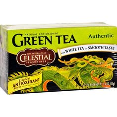 The gentle touch of Authentic Green Tea makes taking care of yourself a pleasure.Ingredients : Green tea.Gluten Free : YesKosher : YesSize : 20 BAGPack of : 6Pr