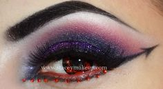 """Demonic"" Halloween Eyes with red crystal accents."