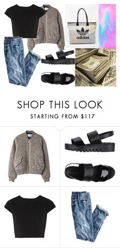 """Untitled #117"" by dreamer3108 on Polyvore featuring Acne Studios, Jeffrey Campbell, Alice + Olivia, J.Crew and adidas"