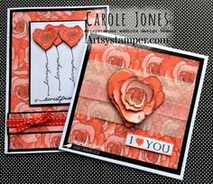 Craftilicious Creations: * Artsystamper: Hearts and Flowers Rose Background, Paper Background, How To Make Banners, Whitney Houston, So Creative, Always Love You, Black Paper, Digital Stamps, Happy Monday