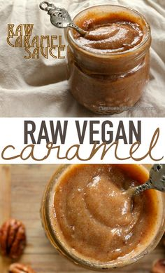 This raw caramel sauce is made with macadamia nuts and dates for a healthier substitute that is equally delicious. Click the photo for the full recipe.