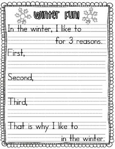Teach Your Child to Read - Sarahs First Grade Snippets: Common Core Snowy Reading (with a freebie) - Give Your Child a Head Start, and.Pave the Way for a Bright, Successful Future. Paragraph Writing, Narrative Writing, Opinion Writing, Persuasive Writing, Writing Rubrics, Opinion Paragraph, Writing Lessons, Writing Resources, Writing Skills