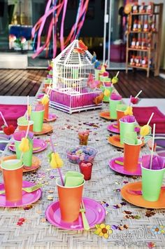INDIA Birthday Party #party #pink #aqua #green #colorful #bright #neon #decorations #cake #ideas #india #birthday #girl