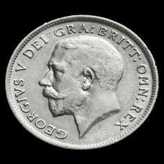 1917 George V Silver Sixpence - Rare - VF