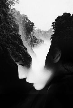 Beautiful double exposure portrait