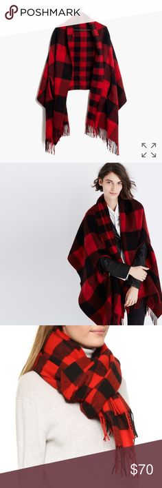 Madewell Reversible Cape Scarf Madewell Cape scarf new with tags. There is convenient armholes added to the cozy scarf so it can be worn around the neck or as a cape. It's also reversible Madewell Accessories