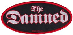 THE DAMNED PATCH  Break out that needle and thread! This woven Damned logo patch will look great sewn on to any jacket or backpack. $5.00 #patch #thedamned #punk