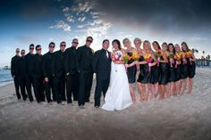Wedding Party on the Beach of #BelmontShore.  Photo courtesy of Lifetime Images Wedding Photography ( LifetimeImages.com)  Copyright 2014