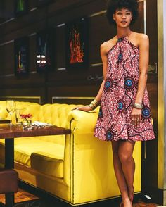«The Nuru Dress •• www.chenburkett.com ~African fashion, Ankara, kitenge, African women dresses, African prints, African men's fashion, Nigerian style, Ghanaian fashion ~DKK