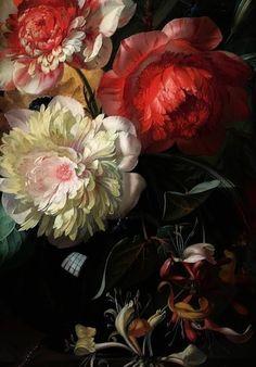 papillon-de-mai: Rachel Ruysch Flowers in a Glass Vase with a Tulip. Art Floral, Painting Inspiration, Art Inspo, 17th Century Art, Merian, True Art, Classical Art, Botanical Prints, Vintage Flowers