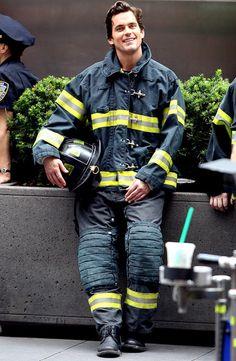 Matt Bomer donned a firefighter's uniform shooting White Collar